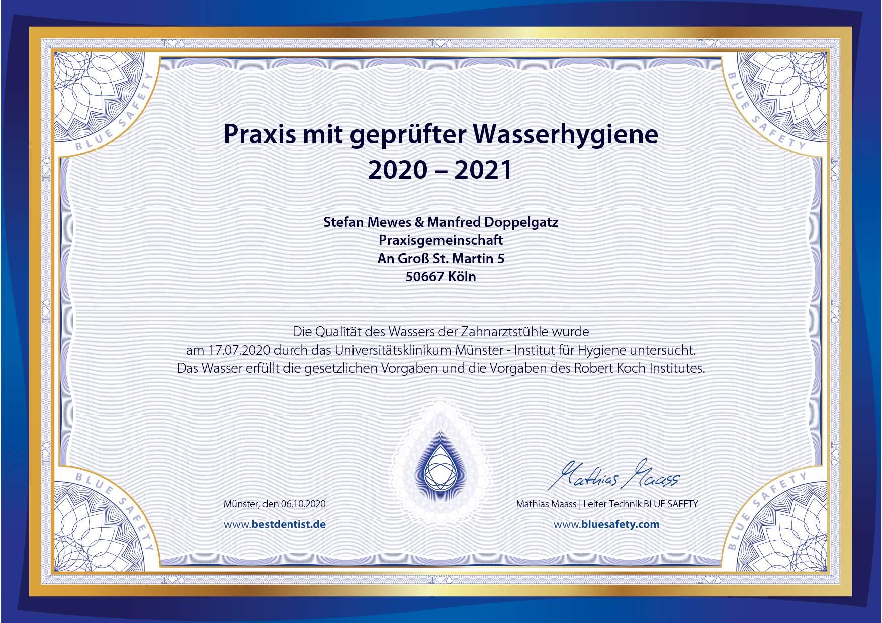 2020_PraxisMarketing_Zertifikat_Mewes_Doppelgatz_Köln